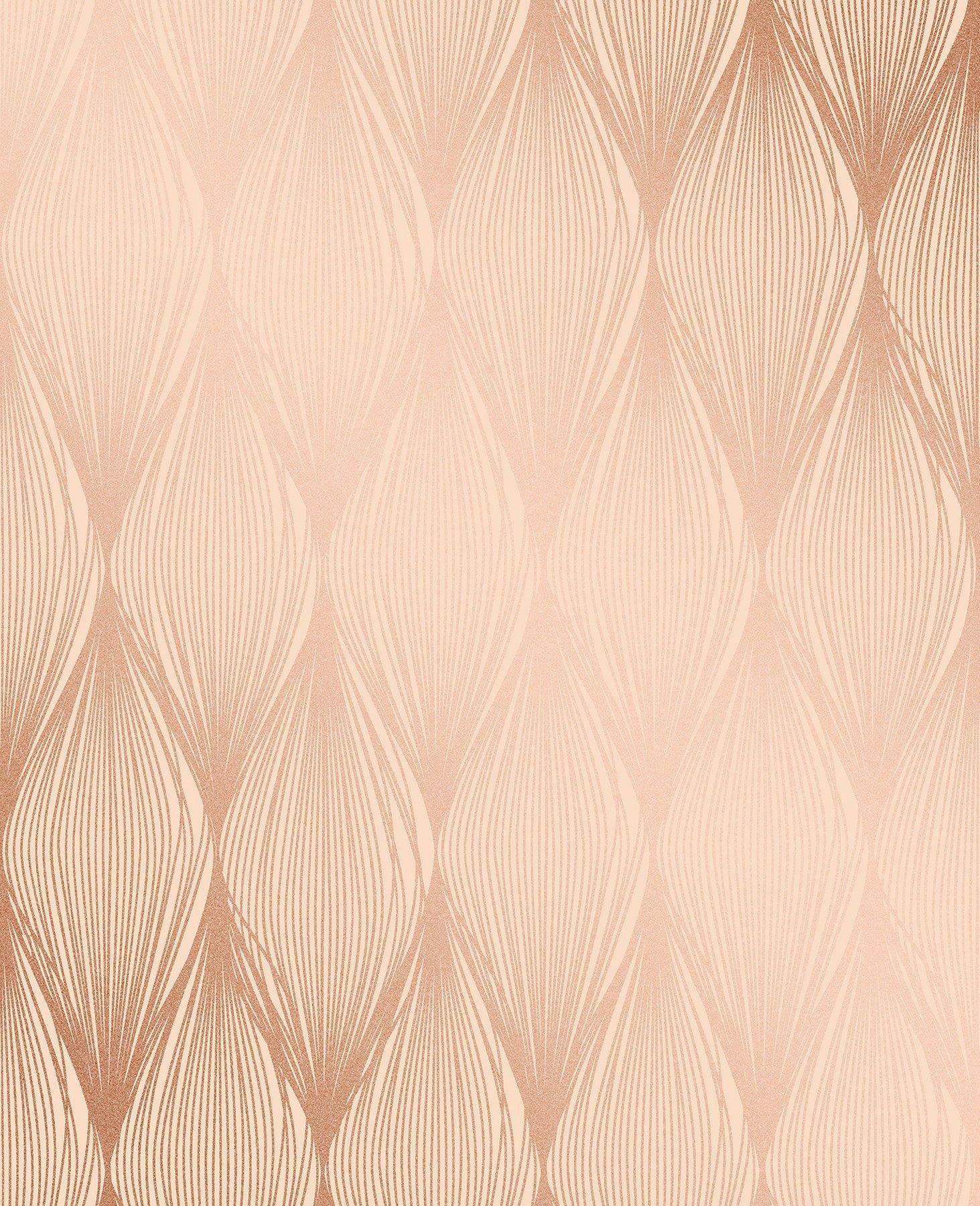 Decorline 2735-23326 Gleam Bronze Linear Ogee Wallpaper Gleam Linear Ogee Wallpaper