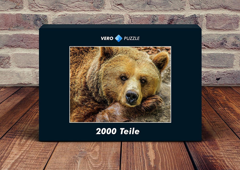 VERO PUZZLE 51239 Tierwelt - Bär, Bär, Bär, 2000 Teile in hochwertiger, cellophanierter Puzzle-Schachtel 294c11