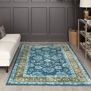 Mohawk Home Worcester Area Rug, 5'x8', Teal