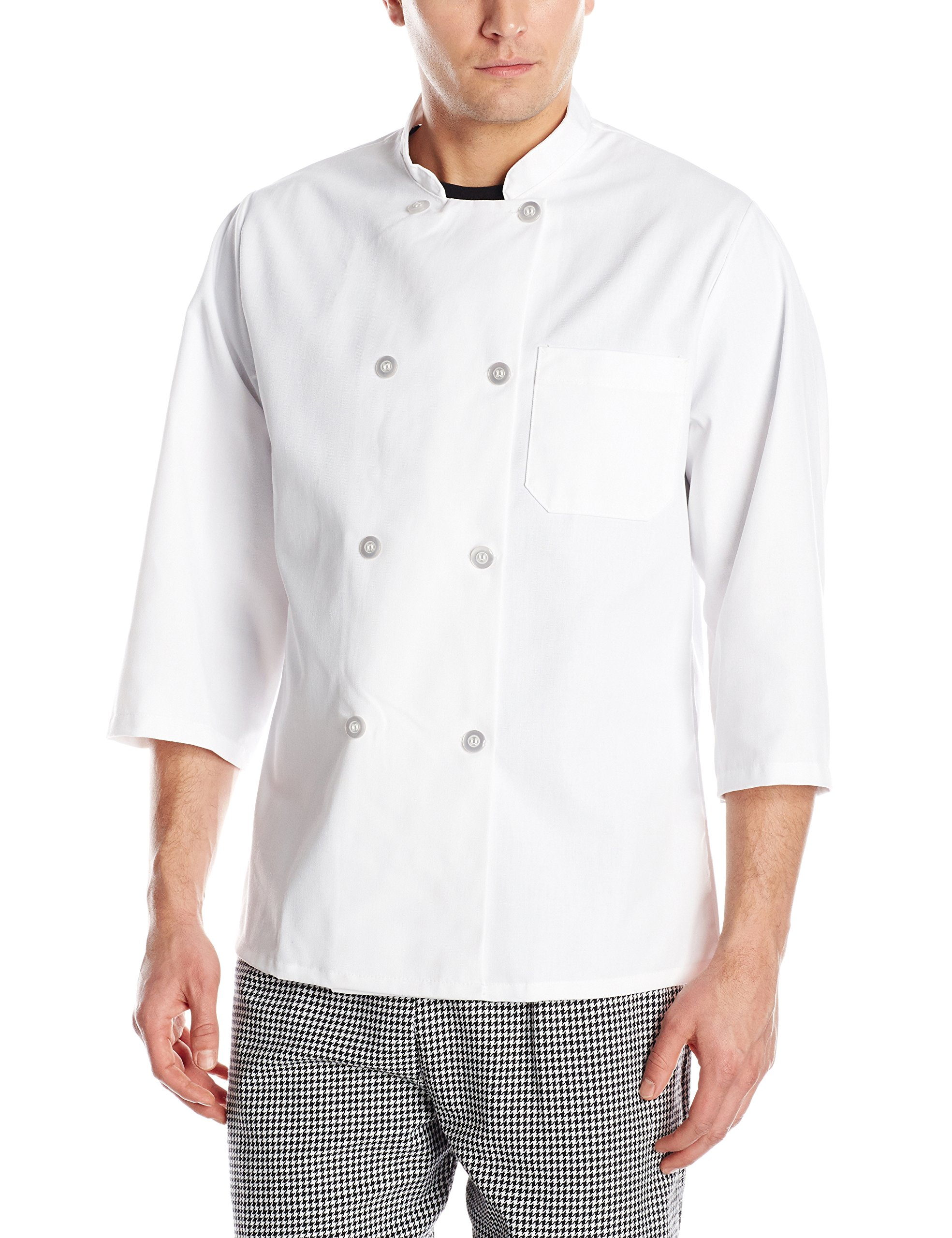Chef Designs Red Kap Sleeve Chef Coat, White, X-Large