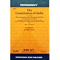 The Constitution of india/Bare Act with Short Comments Latest Edition