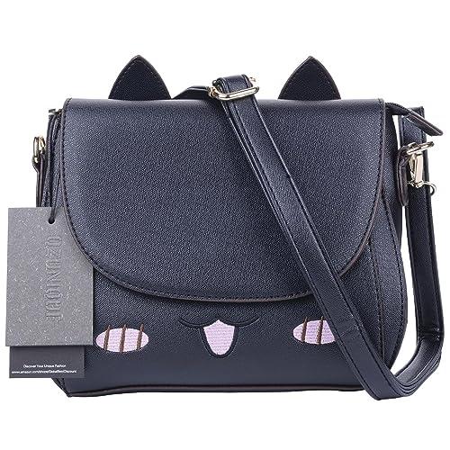 QZUnique Women's Summer Fashion Top Handle Cute Cat Cross Body Shoulder Bag