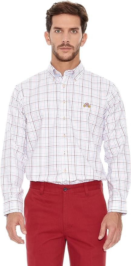 Spagnolo Camisa Hombre Villela Tercio Burdeos/Rosa M: Amazon ...