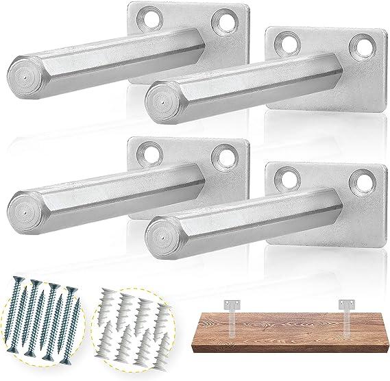 "- Blind Shelf Supports 4 pcs 6/"" Solid Steel Floating Shelf Bracket BATODA"