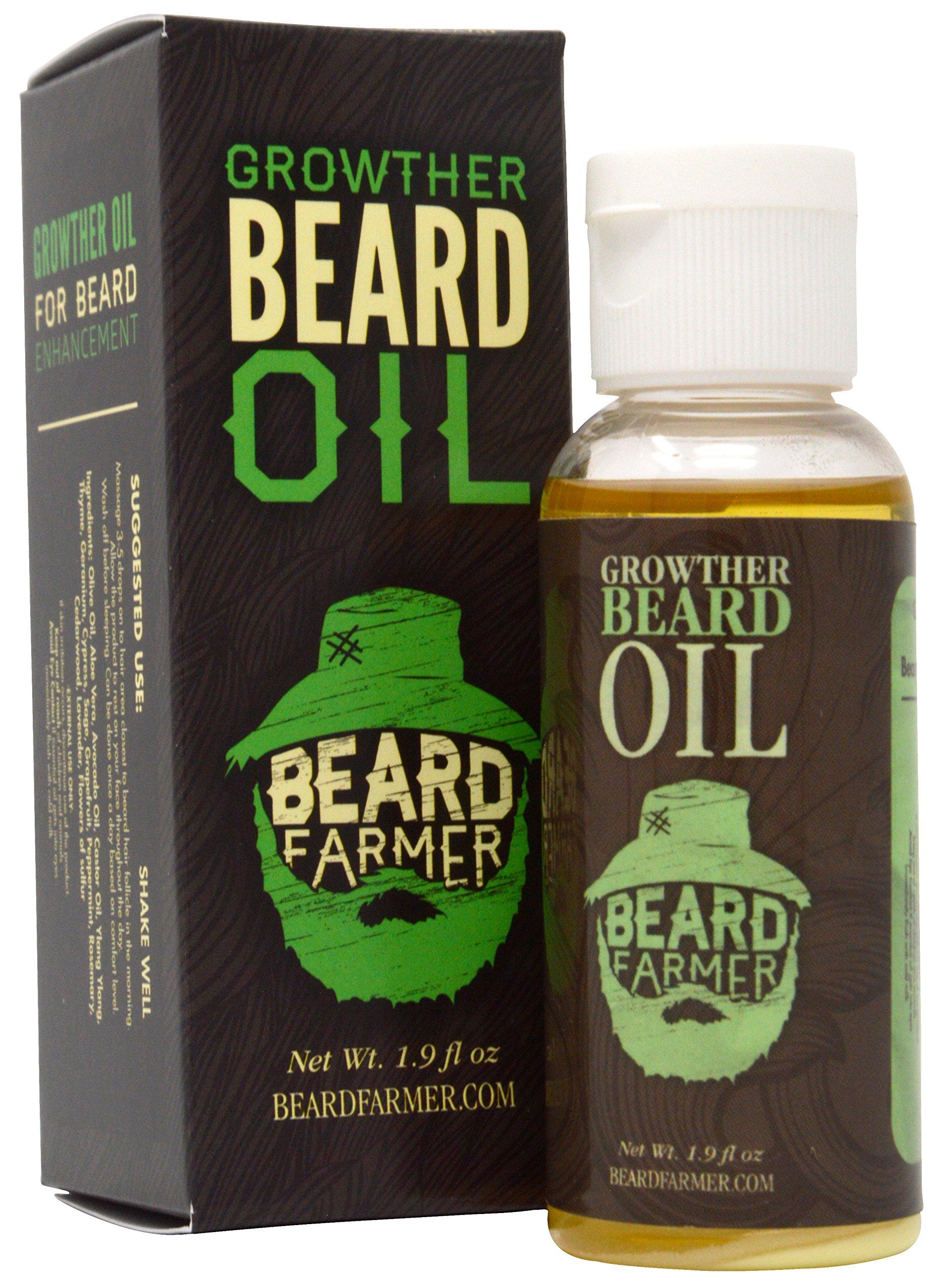 Beard Farmer - Growther Beard Oil (Grow Your Beard Fast) All Natural Beard Growth Oil