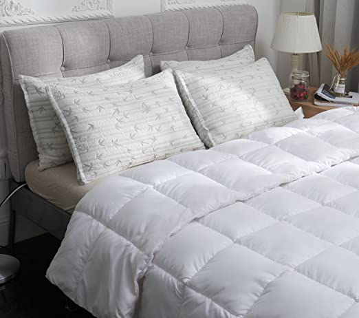 Elegant Sleep Memory Foam Bamboo Pillow Queen Size