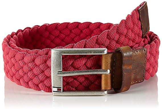 e7e212035 Tommy Hilfiger Men's Austin Belt, Red (Barberry-PT), 95: Amazon.co ...