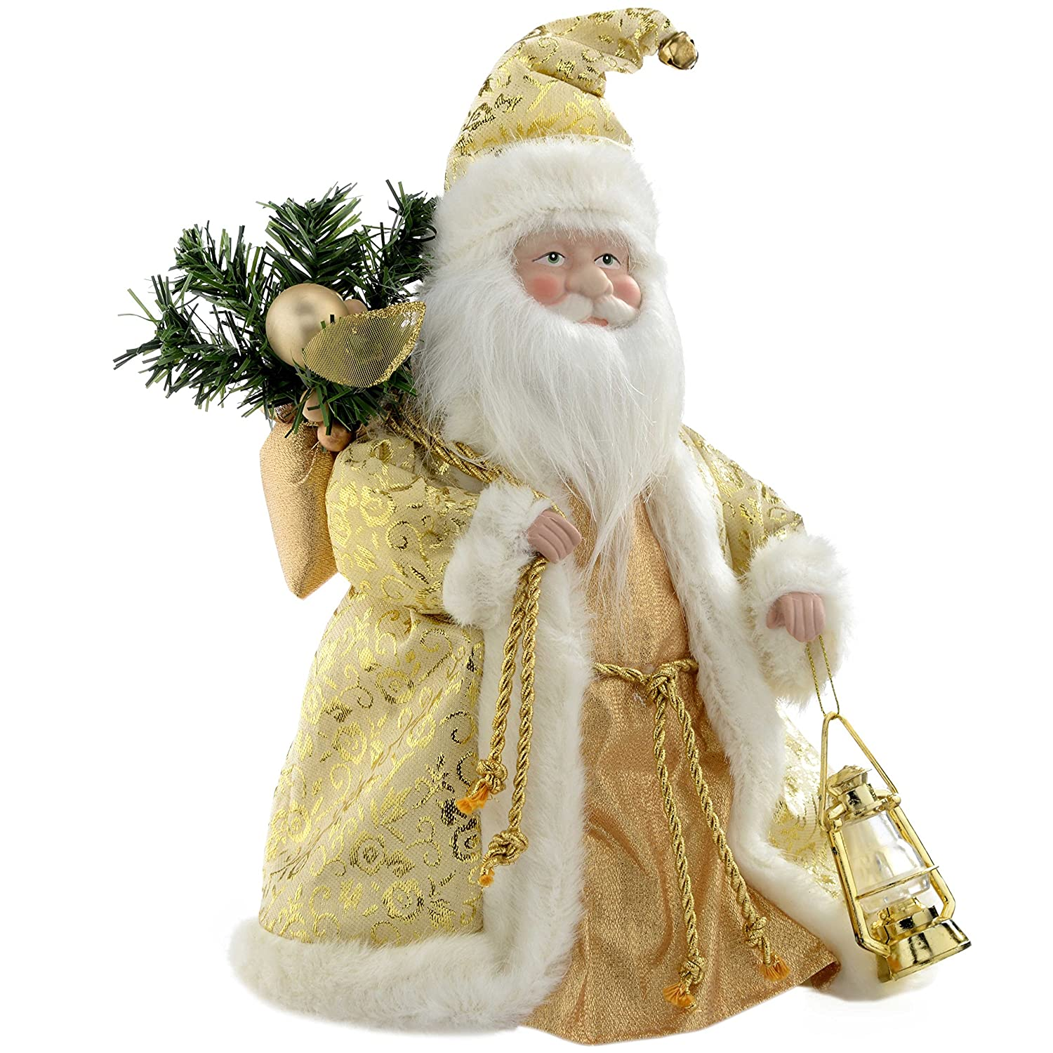 WeRChristmas Father Christmas Tree Top Topper Decoration, 30 cm ...