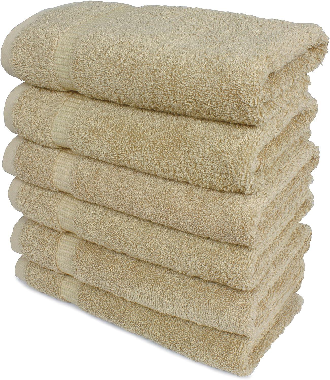 Aqua SALBAKOS Luxury Hotel /& Spa Turkish Cotton 6-Piece Eco-Friendly Hand Towel Set 16 x 30 Inch