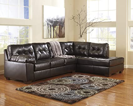Amazon.com: Alliston DuraBlend Contemporary Chocolate Color Faux ...