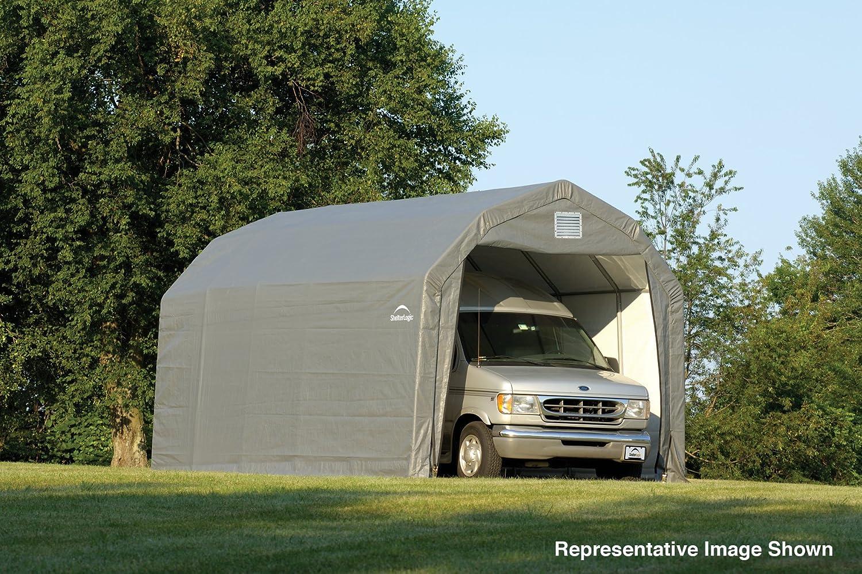 amazon com shelterlogic 12ft w homestead barn style garage