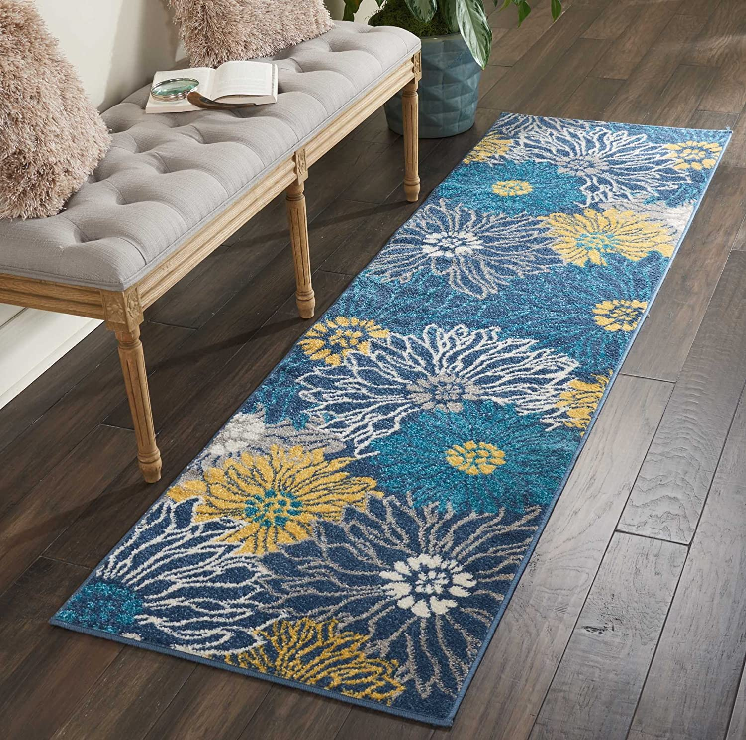"Nourison Passion Area Rug, 2'2"" x7'6, Blue"