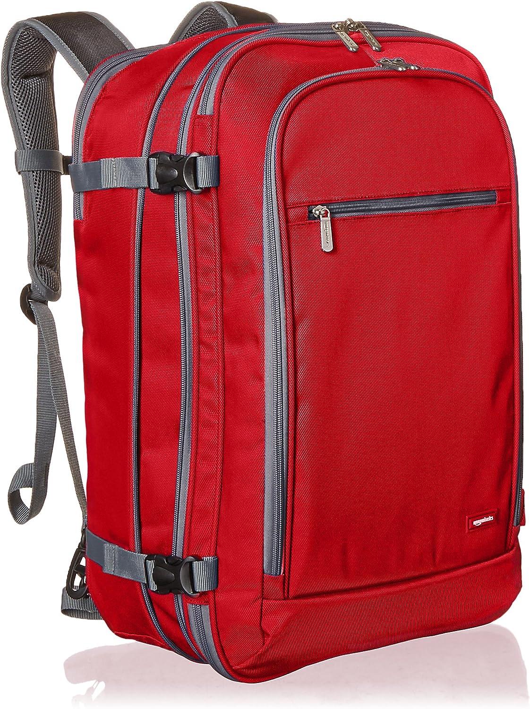 AmazonBasics - Mochila de equipaje de mano - Rojo