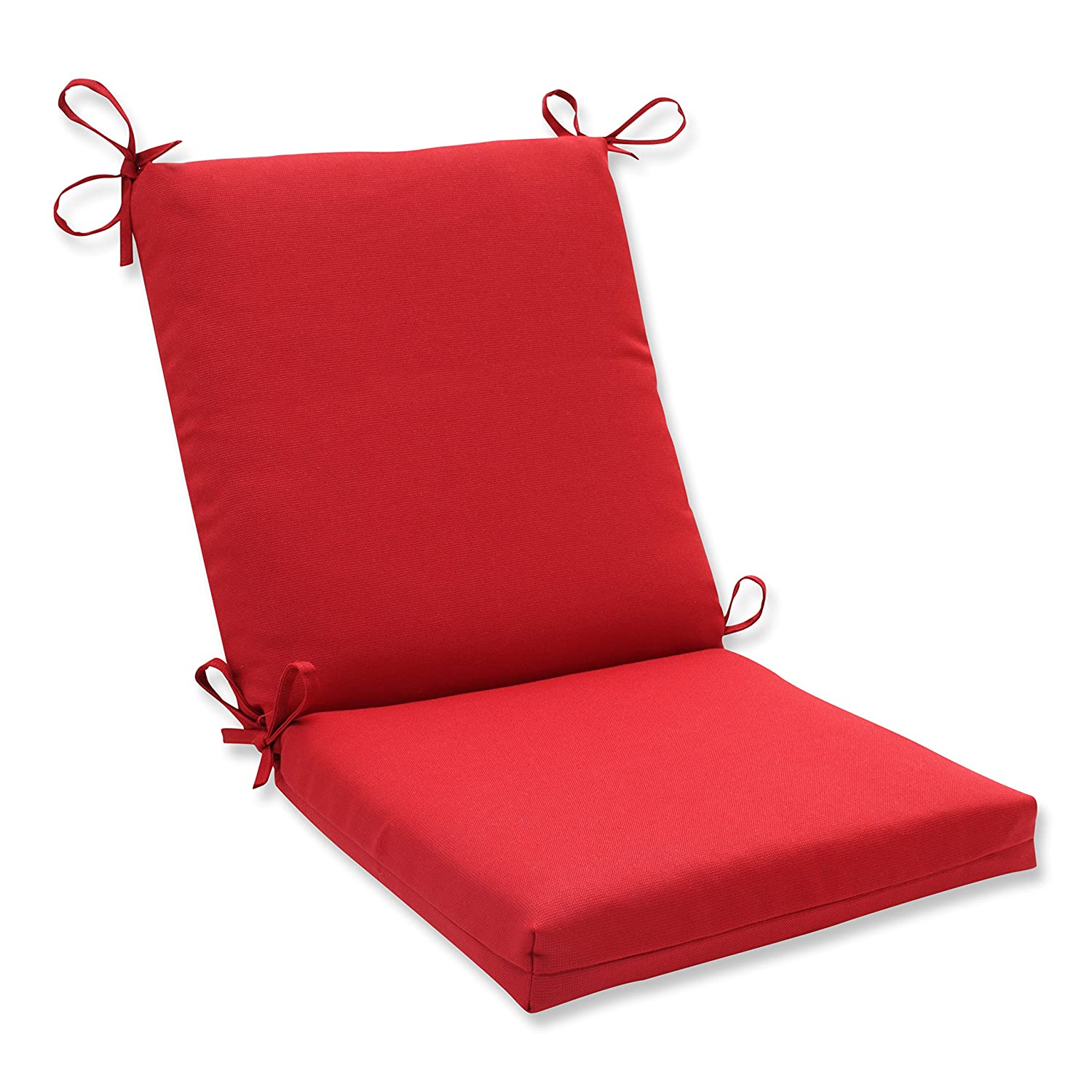 Pillow Perfect Indoor Outdoor Red Solid Chair Cushion