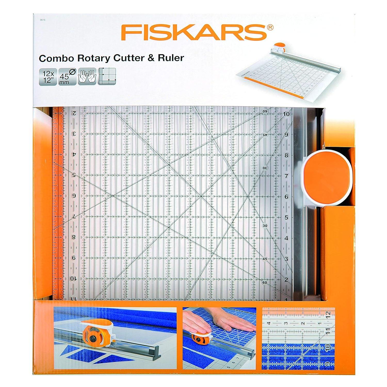 Fiskars C/úter rotatorio /Ø 45 mm con Regla Naranja//Blanco 6 x 24 1014651