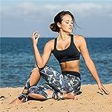icyzone Padded Strappy Sports Bra Yoga Tops