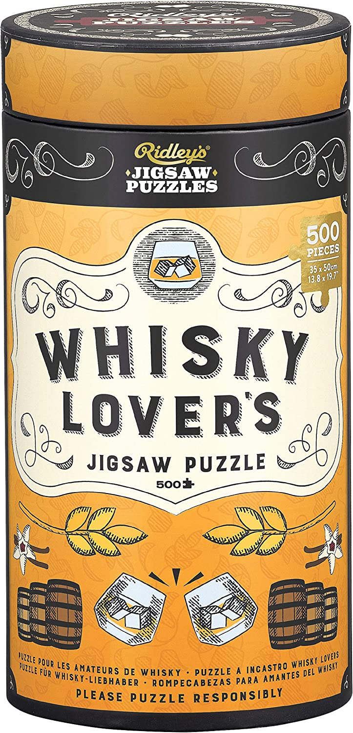 Ridleys Games JIG042 Whisky Lovers Jigsaw Puzzle Multi