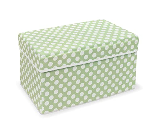 Double Folding Storage Organizer Ottoman Seat