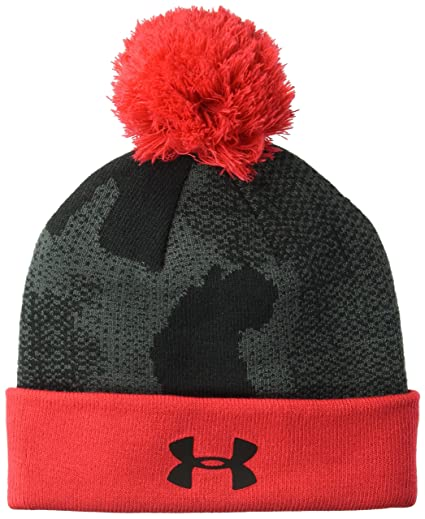 205de0ca2 Under Armour Boys Pom Beanie upd, Black (002)/Black, One Size