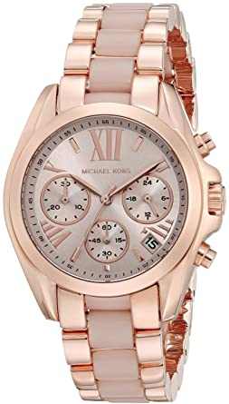 8dea0be0e8b Image Unavailable. Image not available for. Color  Michael Kors Women s  Bradshaw Rose Gold-Tone Watch MK6066