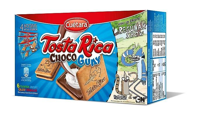 Cuétara - Tosta Rica Choco Guay - Galletas Sándwich Rellena de Crema de Leche - 168