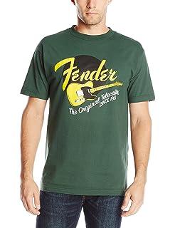 GREEN LARGE Genuine Fender Original Tele//Telecaster Guitar Men/'s T-Shirt