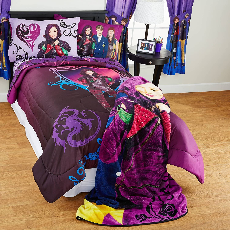Disney Nachkommen 5-teiliges Bettwäsche-Set Tröster und Blatt, Full Größe
