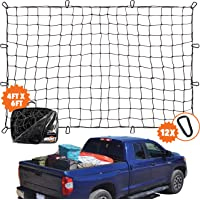 Grit Performance 4 x 6 ft Super Duty Truck Cargo Net for Pickup Truck Bed Stretches
