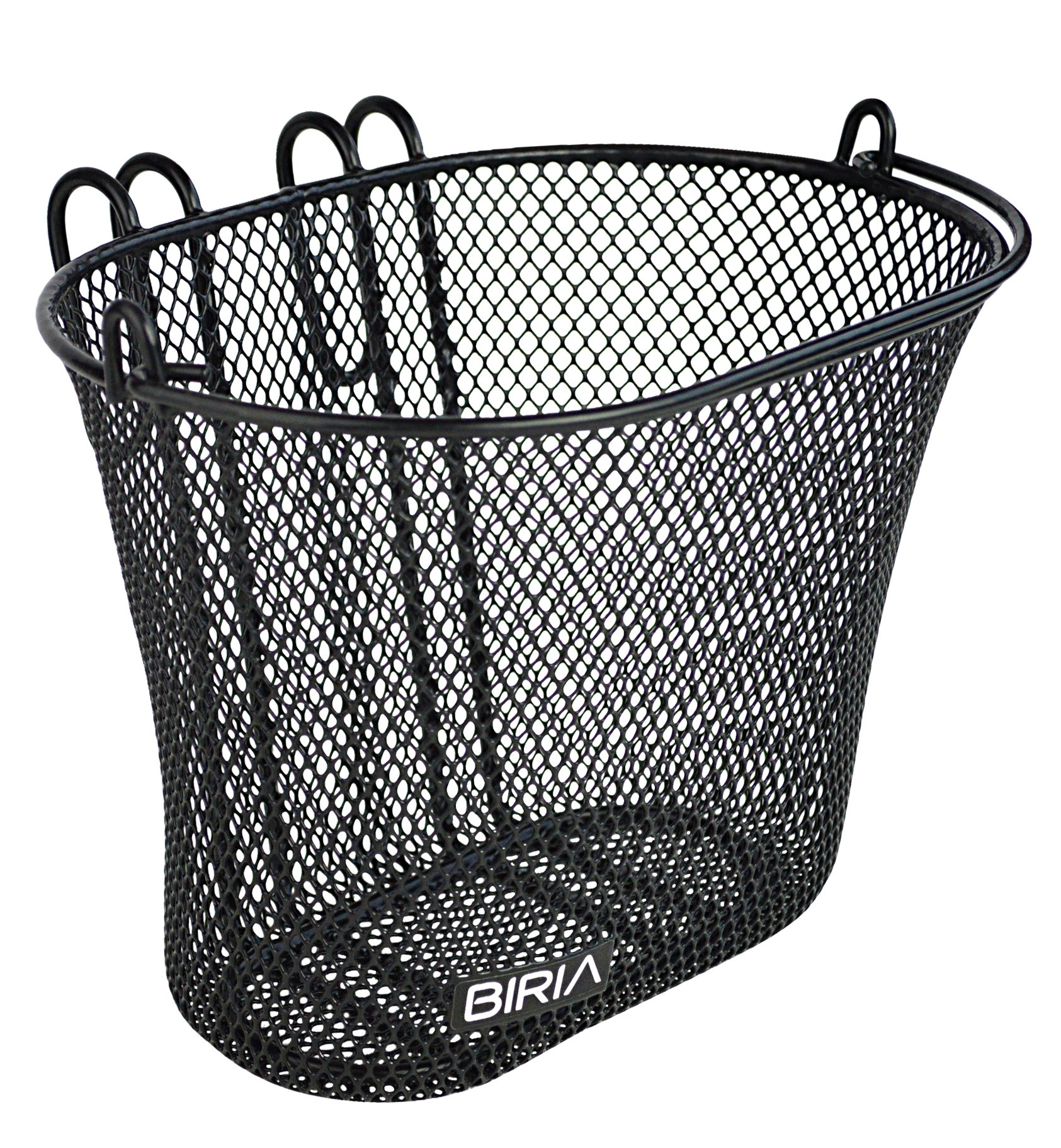 Biria Basket with hooks BLACK, Front, Removable, wire mesh SMALL, kids Bicycle basket, BLACK by