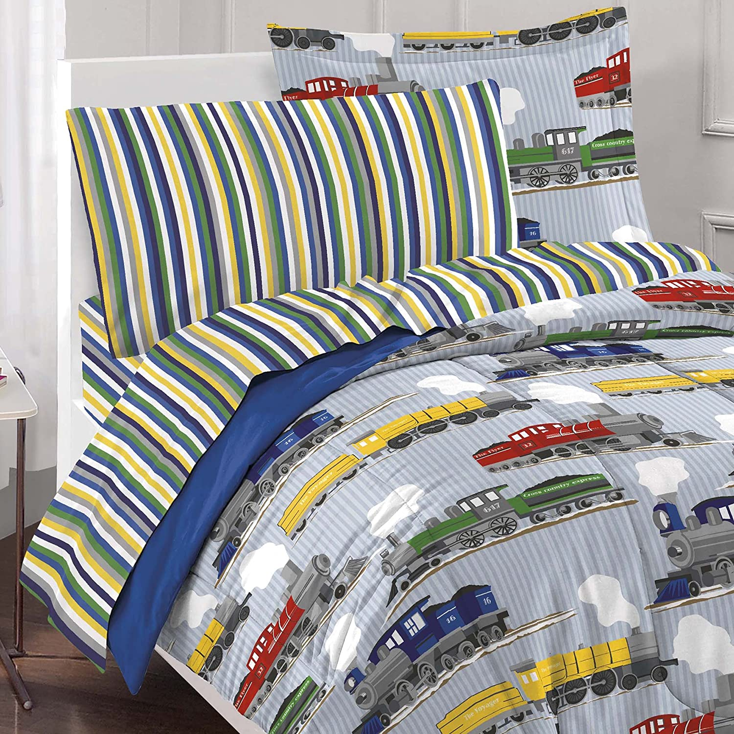 full size star wars bedding by amazon com dream factory trains ultra soft microfiber boys