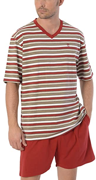 Pijama de Caballero Corto Moderno a Rayas/Ropa de Dormir para Hombre - Punto ,