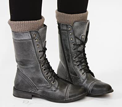 Bottes Femme Militaire Vintage