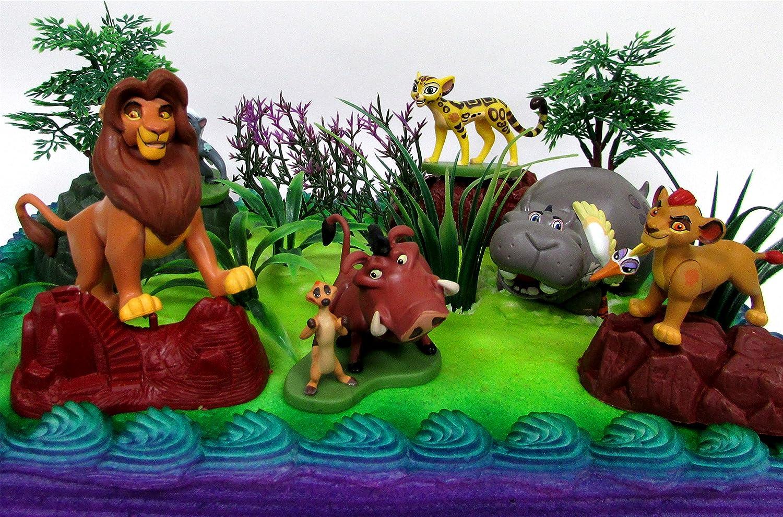 Peachy Amazon Com The Lion King Lion Guard 19 Piece Birthday Cake Funny Birthday Cards Online Fluifree Goldxyz