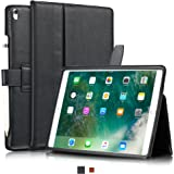 "KAVAJ iPad Pro 10.5"" Case Leather Cover ""London"" for Apple iPad Pro 10,5"" Black Genuine Cowhide Leather with Pencil Holder Built-in Stand Auto Wake/Sleep Function Slim Fit Smart Folio iPad 10 5"