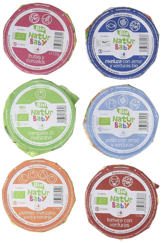 Natur Baby Varios Purés Infantiles Ecológicos de Frutas y Verduras con Carne o Pescado - Paquete de 15 x 1 Pack: Amazon.es: Alimentación y bebidas