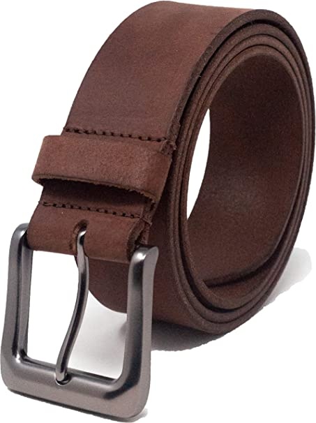 HANDMADE SOLID MENS REAL LEATHER TROUSERS BELT 38mm wide NATURAL made in UK