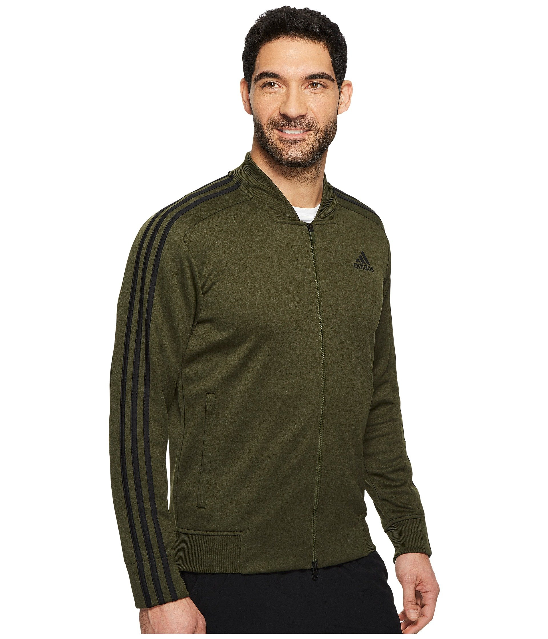 adidas Men's Sport ID Track Bomber Jacket Night Cargo Small by adidas (Image #5)