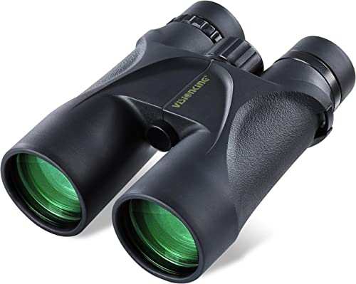 Visionking Optics Roof Prism Binoculars for Adults, 12 x 50 HD Binoculars with Bak-4 Prism, FMC Lens, Nitrogen Purging, IPX7 Waterproof, Available for Hunting, Bird Watching, Travel Hiking