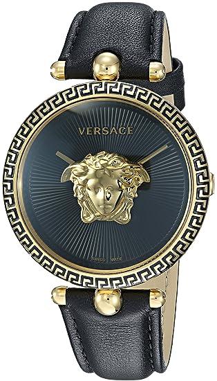 Versace VCO020017 - Reloj de Pulsera Mujer, Color Negro: Amazon.es: Relojes