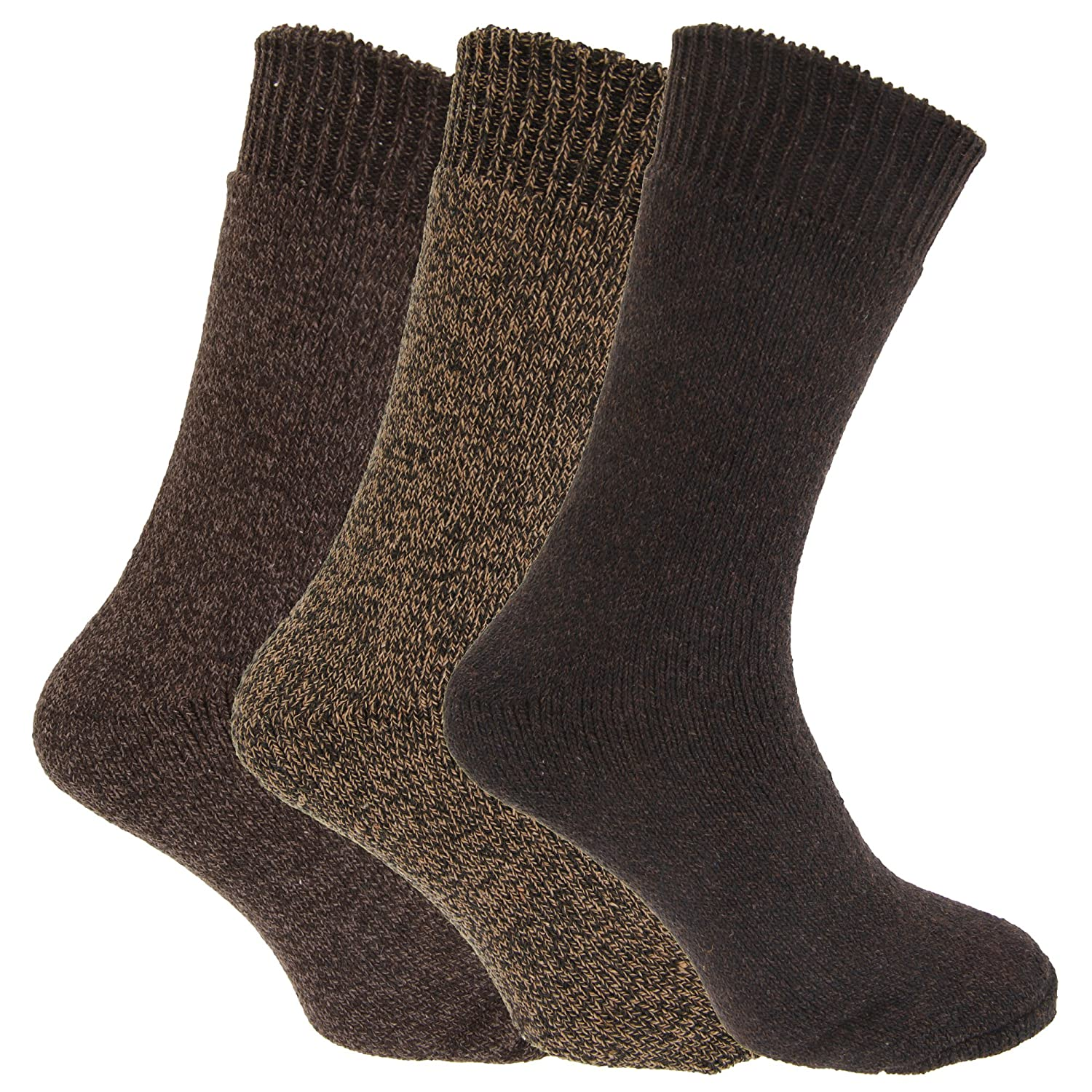 Mens Wool Blend Fully Cushioned Thermal Boot Socks (Pack Of 3) EUR 39-45) (Black) Universal Textiles UTMB430_4