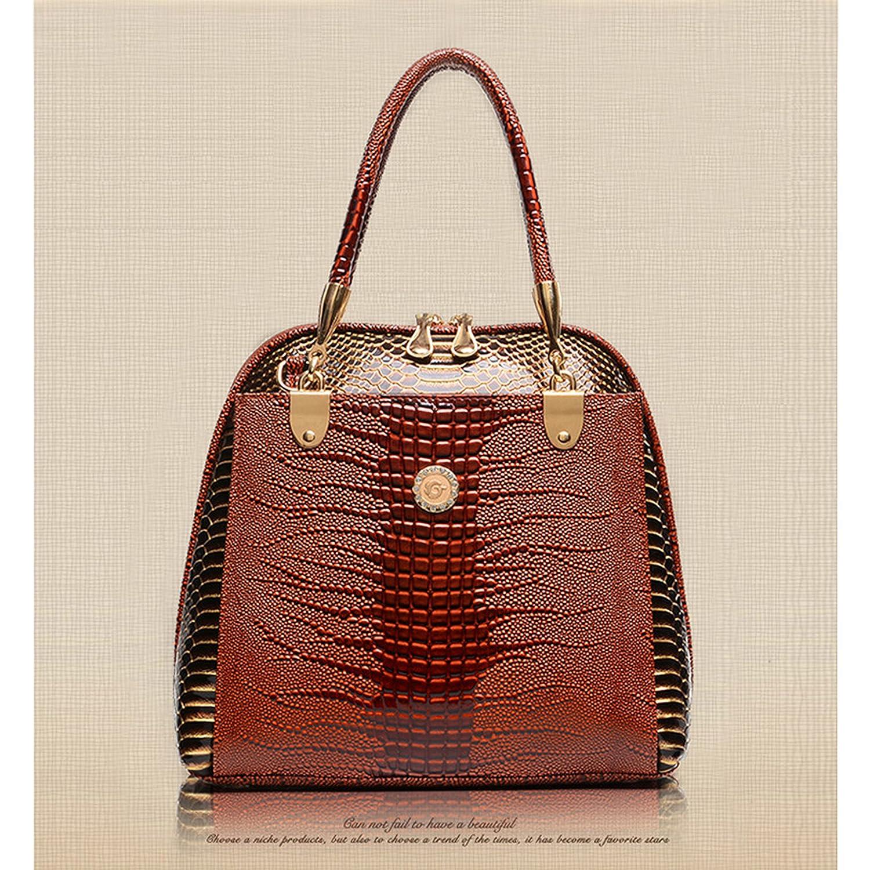 b3475393c3 HeHe 2017 New Tote Shoulder Handbags Ladies Faux Leather Handbags Large  Womens Designer Bags Tote Shoulder Top Handle Stylish Bags(Brown)  Handbags   Amazon. ...