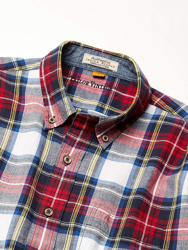 Tailor Vintage Mens Short Sleeve Darien Madras Shirt