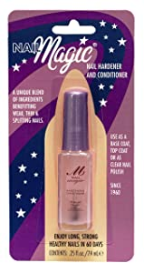 Nail Magic Nail Hardener & Conditioner, Assists with Chipping, Peeling, Brittle Fingernails, Strengthens, Conditions, & Hardens Nails, 0.25 fluid oz