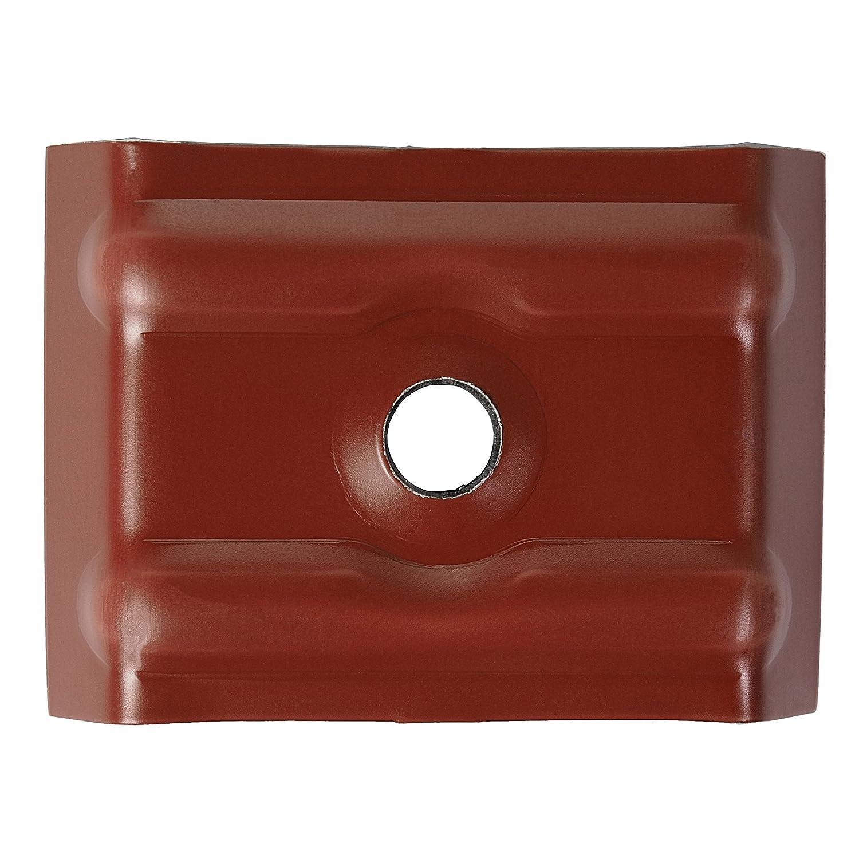 500 St/ück Kalotten 35//207 farbig f/ür Wellplatten Lichtplatten Trapezblech Oxidrot RAL 3009