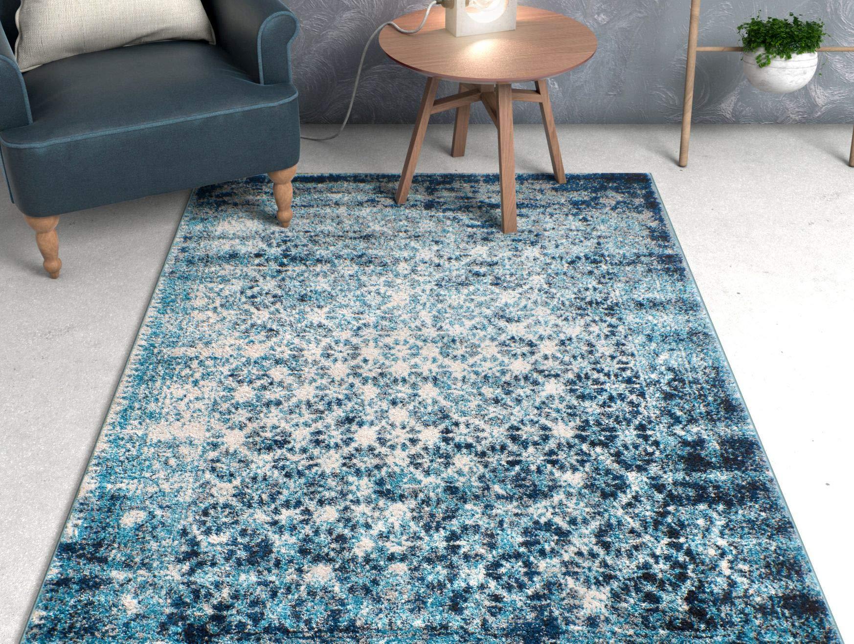 dark teal rug round well woven cheshire blue moroccan lattice vintage modern casual traditional trellis 5x7 53 dark teal rug amazoncom