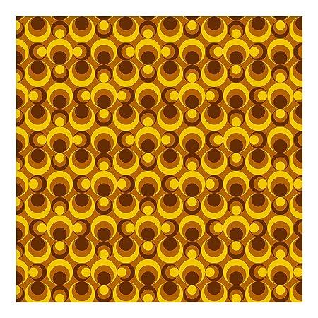 Non Woven Wallpaper Retro Wallpaper 70s Circle Wallpaper