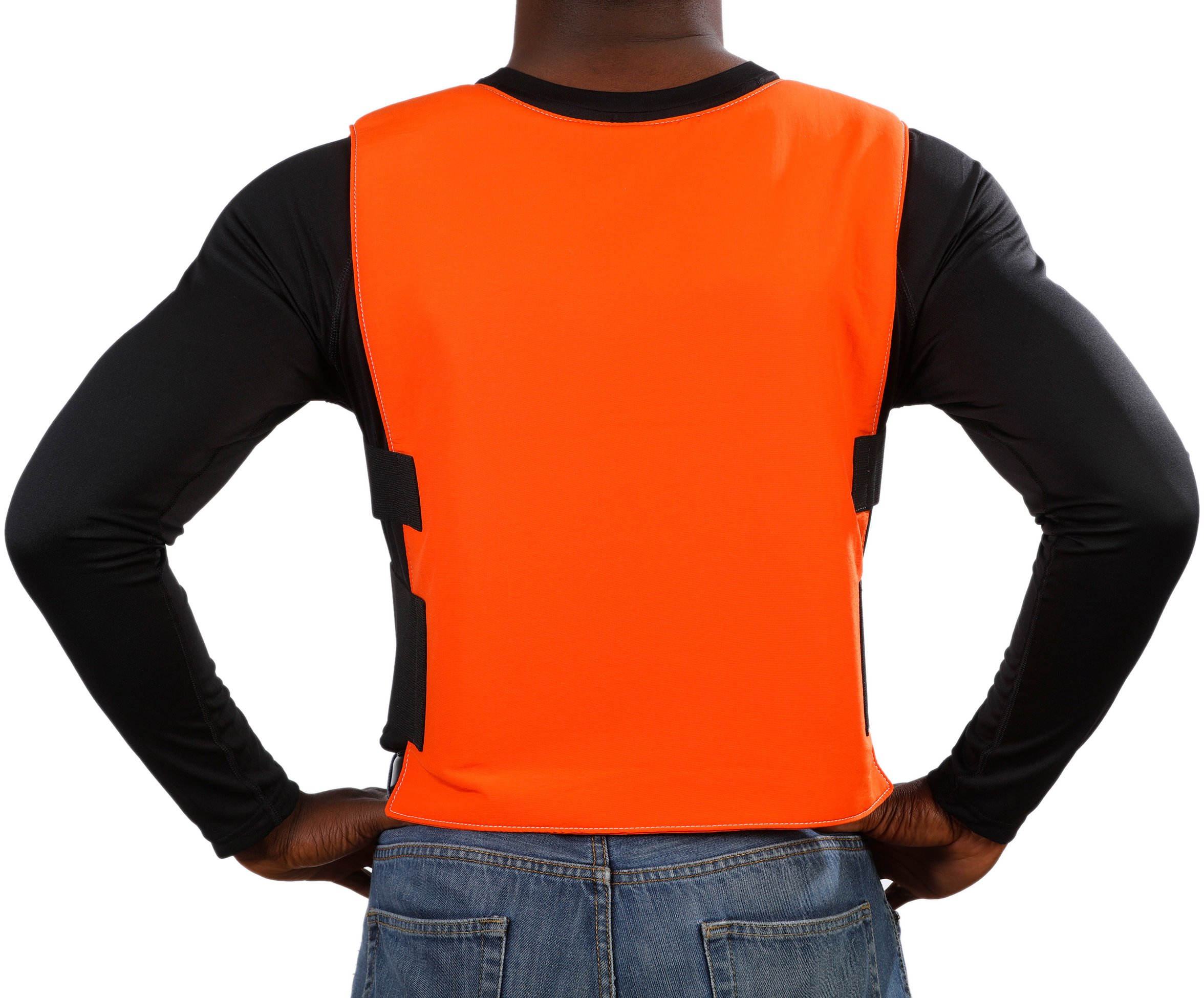 Glacier Tek Sports Cool Vest with Set of 8 Nontoxic Cooling Packs Orange by Glacier Tek (Image #4)