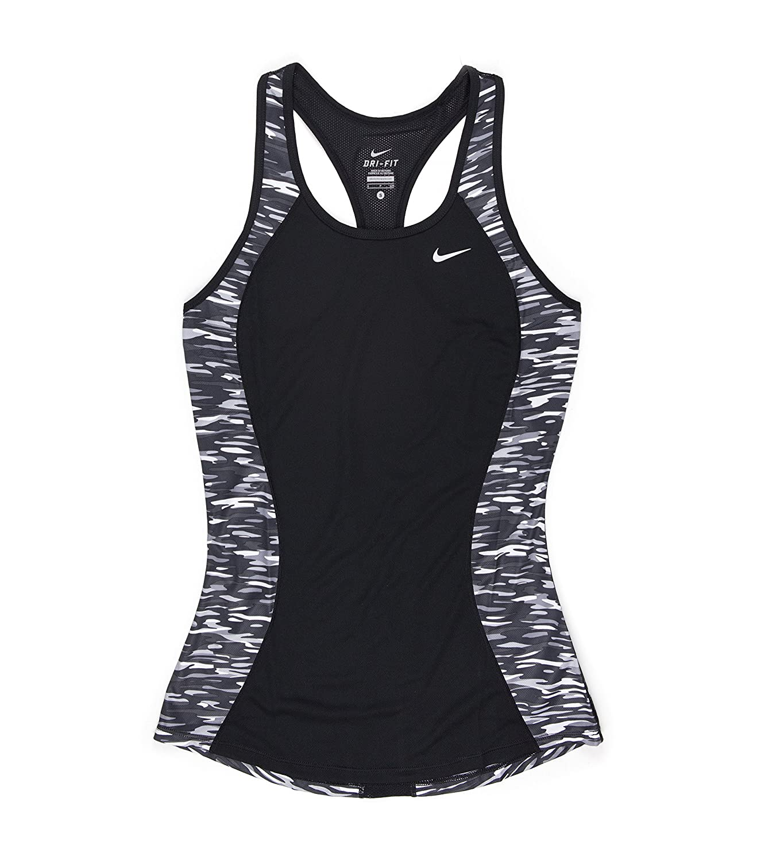 Womens Nike Black Camo Printed Tank Top