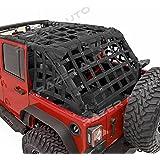 Razer Auto 4 Door Model Only Black Cargo Restraint Net System Trail Cargo Net (Black) for 07-17 Jeep Wrangler JK
