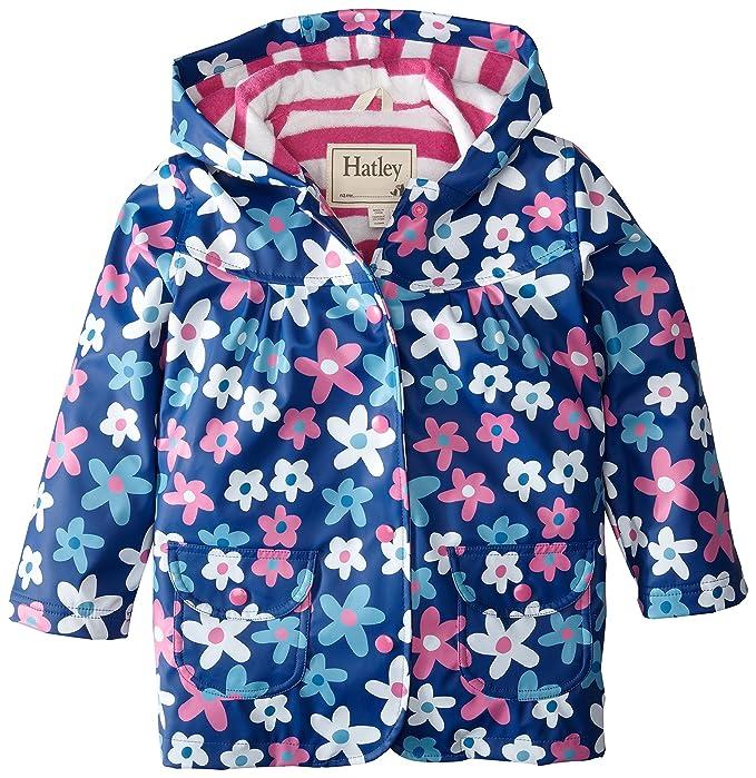 Hathi Girls Raincoat-Summer Garden, Chubasquero para Niñas, Azul 6 años (116